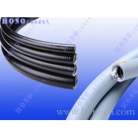 平包塑鍍鋅鋼金屬軟管,平滑包塑不銹鋼軟管