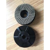 壓鑄件磨料絲圓盤刷,研磨絲拋光輪,帶桿膠筑打磨去毛刺刷盤定制