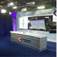 定制电视台演播室直播桌 校园演播桌