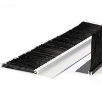 h型鋁合金工業防塵密封條刷鋁合金密封線盒尼龍絲毛刷