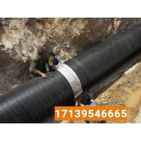 hdpe塑钢缠绕管 塑钢缠绕管专业供应商产品刚度高 不锈钢卡