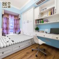 小房间榻榻米床衣柜一体定制整体飘窗儿童房定制书房全屋定制欧式