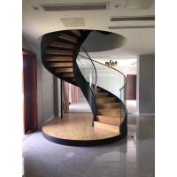钢木双梁旋转楼梯玻璃楼梯实木楼梯全屋定制