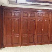华艺楼梯全屋定制木门整体楼梯衣柜木饰面储藏柜