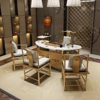 大理石茶桌椅组合简约现代茶艺桌功夫茶几办公室茶台新中式
