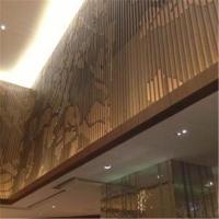 厂家定制雕花木纹包柱铝板 黑色 白色 热转印仿木纹