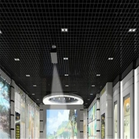 室內鋁格柵吊頂 造型新穎顏色規格可訂制 天花鋁格柵