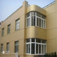 德普龙厂家定制闪金色弧形造型铝单板 氟碳铝单板幕墙