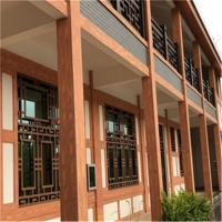 款式多样化,加工工艺性好、 走道木纹铝窗定制