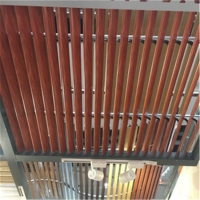 防潮防火铝条扣厂家 商场定制木纹铝条扣定制直销
