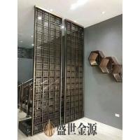 惠州彩色不锈钢屏风高端定制 玄关隔断