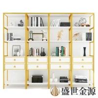 惠州精装家用金色不锈钢书架