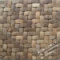 天然環保椰殼馬賽克背景墻裝飾材料東南亞裝修風格