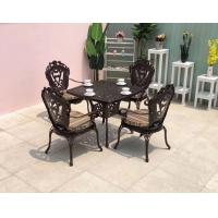 公园室外铸铝桌椅 定做批发花园铸铝餐桌椅套装
