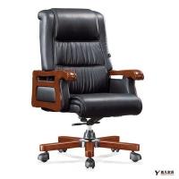 牛皮大班椅|牛皮老板椅|木制办公椅