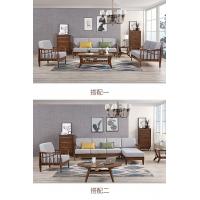 新款北欧轻奢乳胶布艺沙发 现代简约实木沙发客厅家具组合套装
