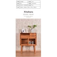 北欧风格床头实木储物柜收纳柜 简约高雅卧室客厅家具