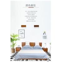 北欧简约高雅日式实木床简约复古排骨架实床1.8米舒适宽敞大床
