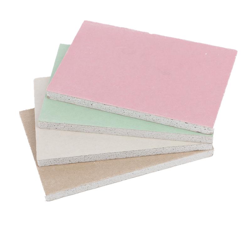 批发防水防潮吊顶石膏板 山东江西河南环保型9.5mm绿色石膏