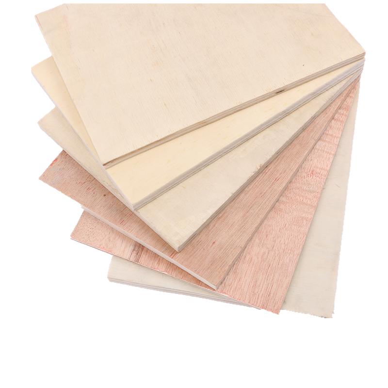 杨木包装木箱夹板桃花芯压多层板 山东定尺异形三合五合多层板