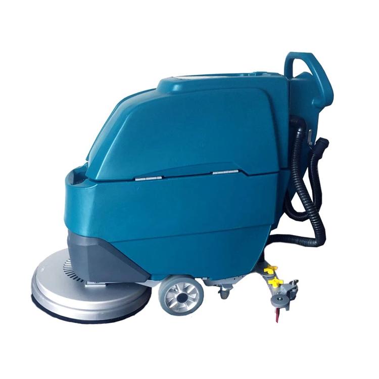 电动洗地机 手推式瓷砖地面刷地擦干一体机