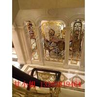 新特铜艺艺术雕花楼梯栏杆 别墅装饰创意旋转楼梯栏杆