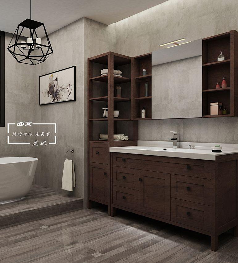 外围体育定制卫浴2018美风系列浴室柜