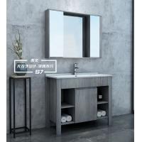 西文简欧浴室柜S7-100黑玻