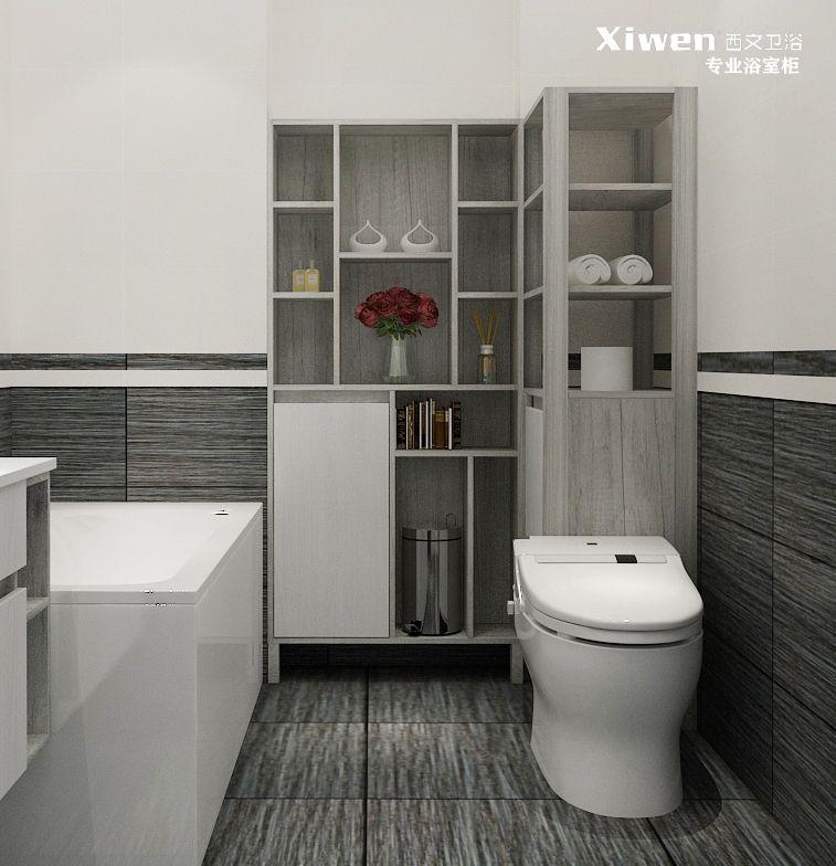 西文非标定制-马桶浴室柜