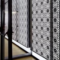 酒店大堂別墅不銹鋼屏風隔斷金屬裝飾背景墻設計首選