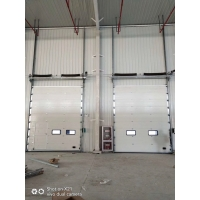 供应大型厂房工业直升门电动提升门可开小窗小门防盗工业门
