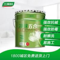 三棵树内墙漆乳胶漆健康+净味五合一墙面漆白色 15L