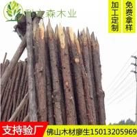 佛山松木桩 桉木/杉木桩 园林建设河堤地基用防腐木柱