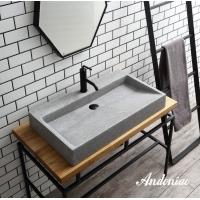 安东尼奥意大利名师设计 精磨石盆 水泥盆 台上水泥盆、