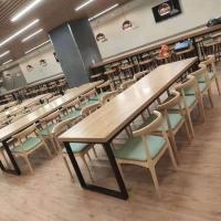 昆明食堂餐桌椅 4人位餐桌椅 不锈钢餐桌椅 云飞家具