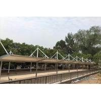 三门峡七色7字型膜结构车棚 周口膜结构停车棚