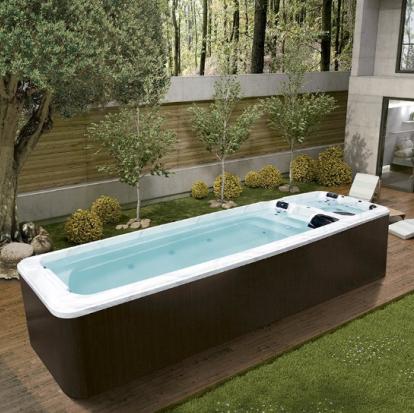 蒙娜丽莎卫浴进口无边际豪华超大型户外冲浪无尽头游泳池别墅浴缸
