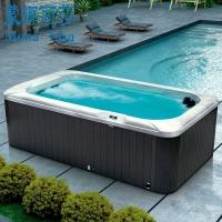 蒙娜丽莎户外进口迷你家用冲浪按摩无边际游泳池浴缸