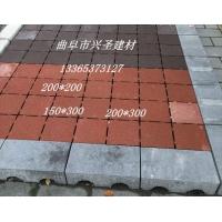 济宁花砖透水砖路面砖彩砖荷兰砖面包砖盲道砖广场砖铺路砖井字砖