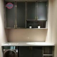 水性科天 洗衣机柜肤感吸塑+嵌入式金属条