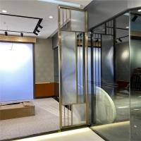 现代简约客厅玄关不锈钢屏风