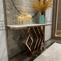 馨钢艺定制现代简约不锈钢玄关台