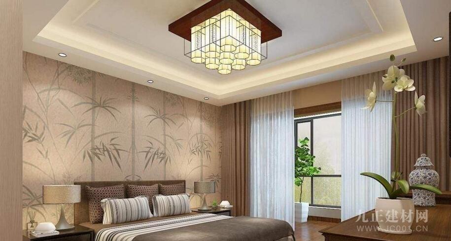 中式卧室吊顶装修效果图欣赏图片