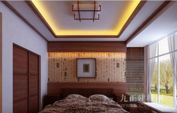 中式卧室吊顶装修效果图欣赏