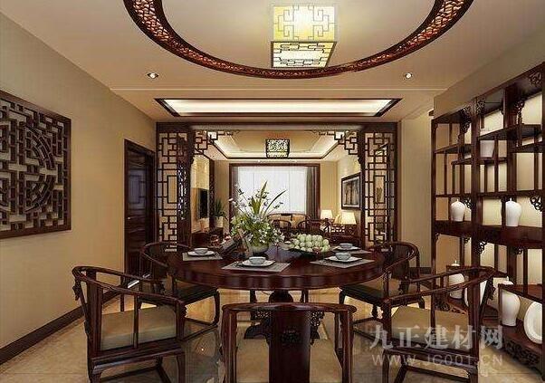 新中式餐厅吊顶效果图欣赏图片