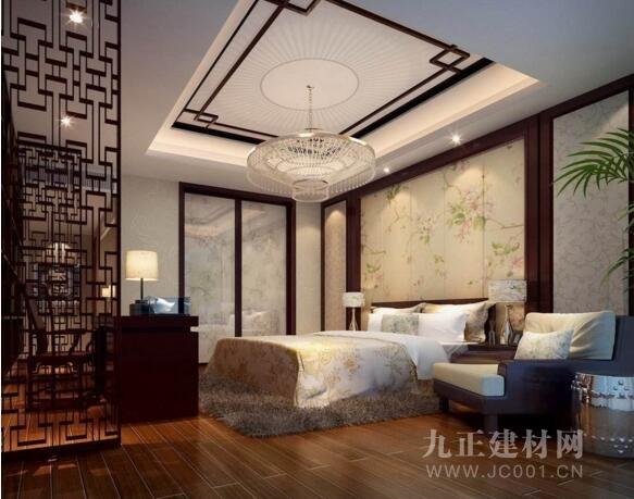 中式卧室吊顶效果图欣赏1