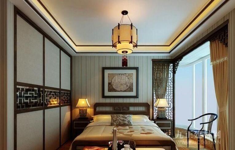 中式卧室吊顶效果图欣赏3