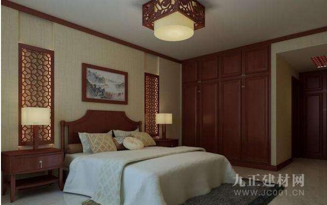 中式卧室吊顶效果图欣赏6
