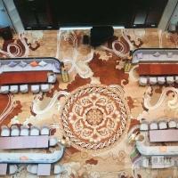 日本三菱 GA100 方塊地毯效果圖