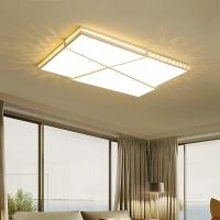 钜豪LED简约现代家用吸顶灯创意个性长方形客厅灯卧室北欧灯具